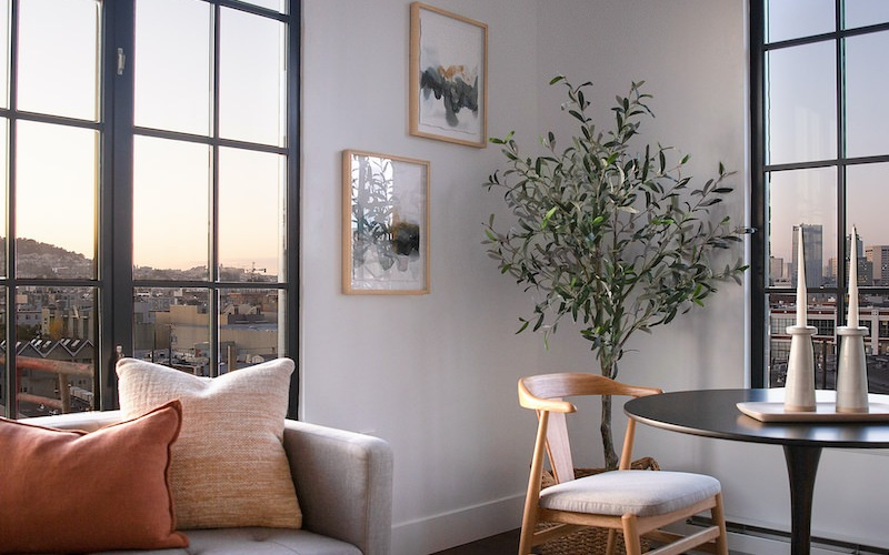 The Madelon Apartments has beautiful loft style windows.