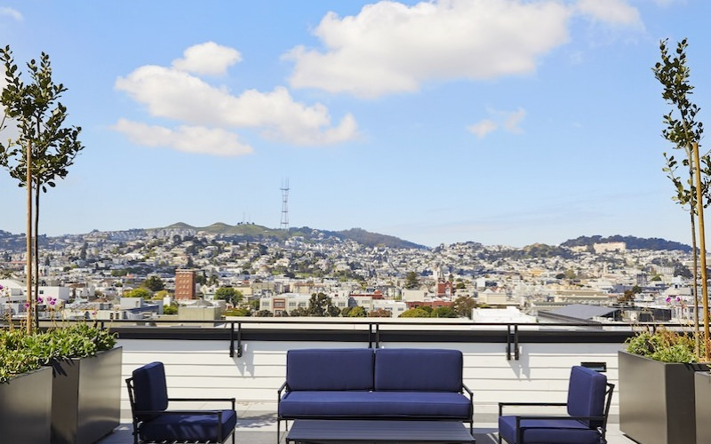 Gorgeous views on The Madelon rooftop
